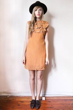 tea and tulips boutique - one of a kind vintage. — mocha frappuccino dress