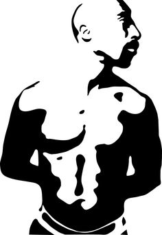 Image result for Tupac stencil