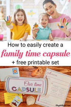 Discover an easy way to create a family time capsule that will preserve precious family memories for years to come. It's a very fun idea and your kids will certainly love it! --- Family time capsule ideas | Time capsule printables for kids | What to put in a DIY time capsule