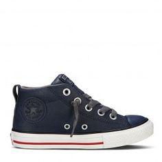 Converse Kids All Star Street Mid Leder - Blauw