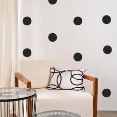 100 Polka Dot Wall Art Stickers - 3.5cm Polka Dots / Pink