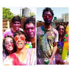 #Colorbomb its war! Bringing out the #waterguns  #happyholi #colour #india #delhi #worknplay #love #festive #festivalofcolors