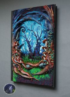 Wow. Amazing Wonderland Polymer clay notebook/journal by ArtisticVariations84