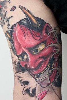 Pics Photos - Hannya Mask Tattoo Meaning Tattoos Japanese Hannya Mask, Japanese Mask Tattoo, Hannya Mask Tattoo, Meaning Tattoos, Oriental, Dragon, Photos, Image, Design