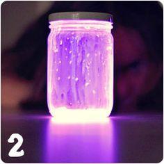 Glow stick Mason jars