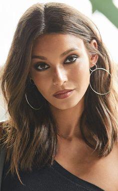 Connected hoop earrings