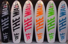 Vans off the wall neon skate decks