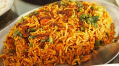 Now make Spicy Vegetarian Biryani that matches Hyderabad's best, hassle free and at the comfort of your home. Spicy Vegetable Hyderabadi Dum Biryani Recipe I. Veg Biryani, Vegetarian Biryani, Vegetarian Recipes, Vegetable Recipes, Healthy Recipes, Indian Food Recipes, Ethnic Recipes, Rice Recipes, African Recipes