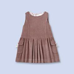 Mocha corduroy dress - Girl - MOKA - Jacadi Paris