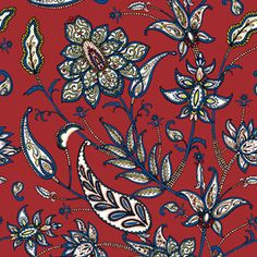 Paisley flowers_JLD by Jackie Lee Designs Seamless Repeat Royalty-Free Stock Pattern Paisley Flower, Repeating Patterns, Persian, Florals, Print Patterns, Royalty, Trends, Explore, Free