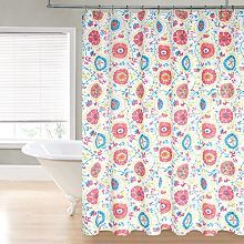 This Mi Zone Asha shower curtain features a fantastic mix of floral and paisley prints for a look you'll love. In multi.