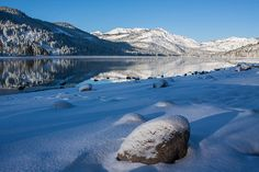 Fresh snow early morning at Donner Lake by @Tom John Falconer