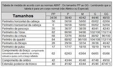 2102d5b43 A tabela de Medidas Femininas foi baseada nas medidas da mulher ...