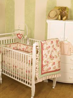 Baby Girl Nurseries - Nursery Ideas - Slideshow. LOVE this bedding <3