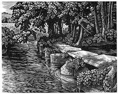 Howard Phipps - The Footbridge at Bishopstone