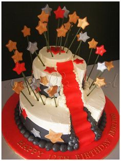 2 tier buttercream cake with fondant deco with Hollywood theme. For orders or inquiries,please email us at mail@myvanillapod.com