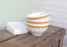 Vintage French cafe au lait bowls. $75.00, via Etsy.
