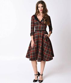 Shop of the Day is: Fräulein Backfish - Find the Dress in the Imagelink ------ #vintage #vintagestyle #vintagefashion #style #fashion #shopping #tartan