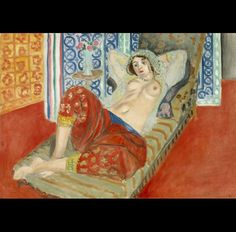 Henri Matisse, Odalisca con pantalón rojo, 1921