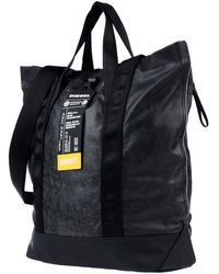 Maxi Faux leather Leather No appliqués Solid color Zip Internal pockets Double handle Removable shoulder strap Fully lined Contains non-textile parts of animal origin Diesel, Man Up, Men's Backpack, Backpacks, Handbags, Leather, Fanny Pack, Bags, Diesel Fuel