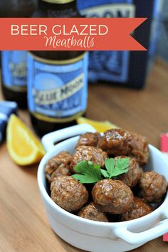 Beer Glazed Meatballs