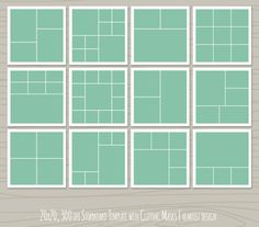 20x20 Storyboard TemplateBlog Board Template by heartistdesign