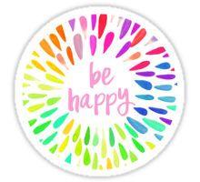 Be Happy Flower Petals Sticker