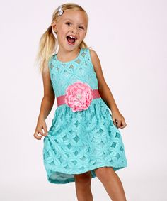 Look at this Green Flower Teatime Dress - Toddler & Girls on #zulily today!