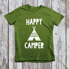 Happy Camper Tee american apparel T Shirt  by LittleLetterCompany, $25.00