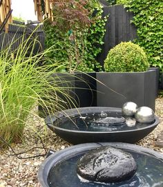 Outdoor Water Features, Water Features In The Garden, Outdoor Plants, Outdoor Decor, Outdoor Living Rooms, Garden Cottage, Small Gardens, Landscape Design, Pond