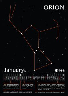 Astronomy Calendar by Hermann Hafsteinsson, via Behance