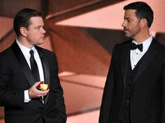 Matt Damon and Jimmy Kimmel's late-night beef made its way to primetime on Sunday at the 68th Emmy Awards. After losing the Variety Talk Series award to HBO's John Oliver, Kimmel, disgr…
