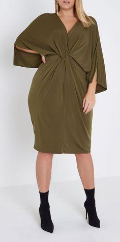 #PlusSize Twist Front Dress