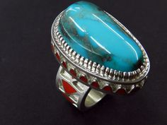 Vernon Haskie Bisbee Turquoise, Turquoise Jewelry, Native American Art, Native American Jewelry, Lapis Lazuli, Vernon, Jewelery, Gemstone Rings, Artisan