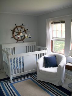 Nautical Nursery | Sailboat Mobile. Still have many years yet but I love the idea of a Nautical Nursery