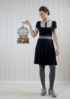 Ms. Peacock  - Kleid mit Käfigdruck *schwarz* von BERON auf DaWanda.com