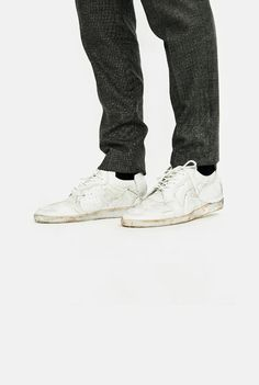 Maison Margiela Deconstructed Washed Low Trainers collage aw17 aw 17 martin margeila shoes sneakers top patchwork stitch