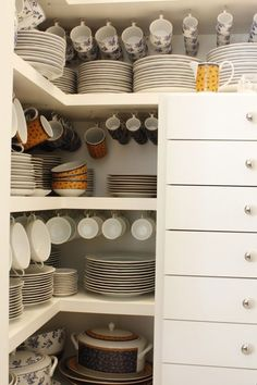 easy kitchen organization ideas for small spaces 00034 Kitchen Organization, Kitchen Storage, Kitchen Decor, Organization Ideas, Dish Storage, Organizing, Pantry Room, Pantry Design, Cuisines Design