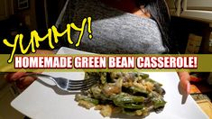 Greenbean Casserole Recipe, Casserole Recipes, Homemade Green Bean Casserole, The Best Green Beans, Thanksgiving Recipes, Beef, Fresh, Dining, Cooking