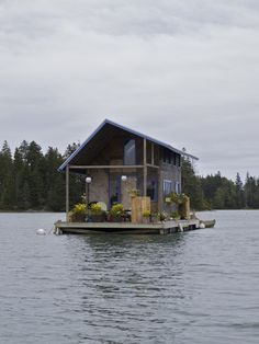 """Floating Cabin -I'd be happy to be """"lost"""" on this island."""