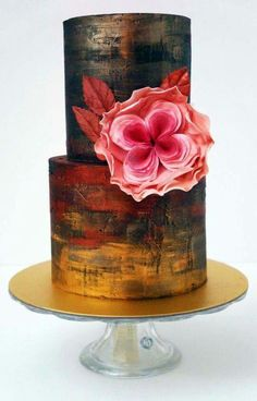 Cute cake with Sugarflower