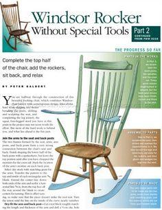 #2637 Windsor Rocking Chair Plans - Furniture Plans