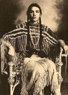 Kiowa Girl, Indian Portrait by Edward Curtis.