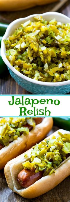 Jalapeno Relish is the perfect hot dog topping.