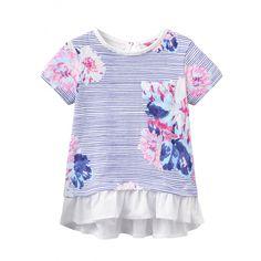Das blau-weiß gestreifte Jersey-Top Lulabelle für Mädchen ist mit farblich abgestimmten Blumenmuster geschmückt und mit tiefem Rüschen-Saum versehen. Das T-Shirt lässt sich ideal mit einer Leggings zu kombinieren. erhältlich in den Größen 68 - 80 statt € 22,95 jetzt um nur € 13,99 NUR SOLANGE DER VORRAT REICHT! Toms, Kind Mode, Peplum, Leggings, Fashion, Stripes, Hemline, Floral Patterns, Moda