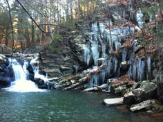 My favorite waterfall in winter -- off Cold Stream Rd. near town of North River Mills, WV. Stuff To Do, Things To Do, Business Planning, West Virginia, Waterfalls, The Neighbourhood, Places To Go, Bridge, Beautiful Places