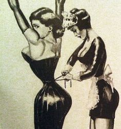 Make your curves dangerous. Corsets for all shapes and sizes. Fetish corsets available. Corsets, Lace Tights, French Maid, Waist Training Corset, Vintage Lingerie, Vintage Girdle, Vintage Corset, Mode Vintage, Vintage Style