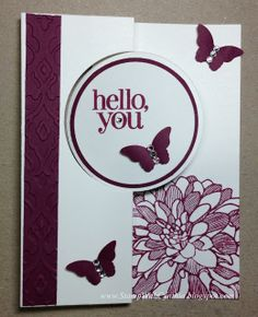 Circle Thinlits Card - Razzleberry Dahlia