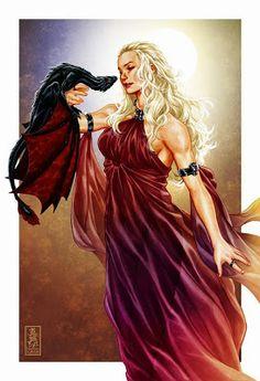Dany y Drogon