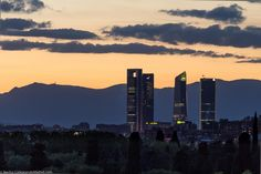 Four towers, madrid, spain Madrid Skyline, Seattle Skyline, New York Skyline, Before I Die, Learning Spanish, Homeland, Places To Visit, San, City